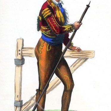 Picador aus Kastilien, Spanien.