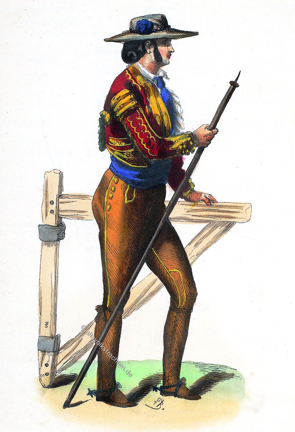Picadore, Tracht, Stierkampf, Kastilien, Spanien, Kostüm, Volkstrachten