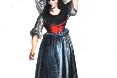 Pardilhó, Auguste Wahlen, Fischhändlerin, Portugal, Trachten, Tracht, Kleidung