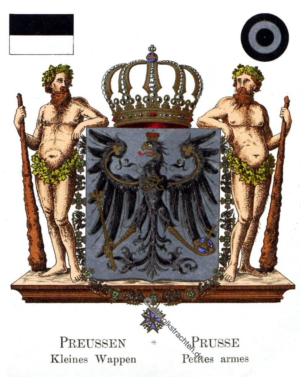 Preussen Kleines Wappen, Prusse Petites moyennes, Staatswappen, Wappen, Heraldik, Deutschland, Landesflaggen, Cocarden,