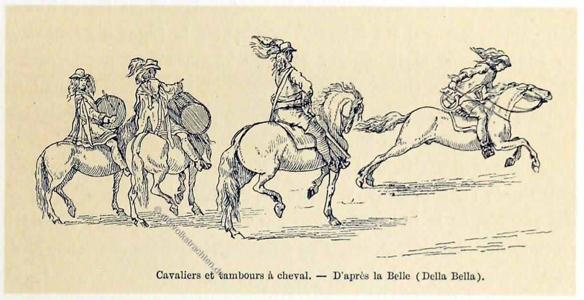 Reiter, Kavallerie, Trommler, Französische Soldaten, 17. Jahrhundert, Militär, Frankreich, Barock,