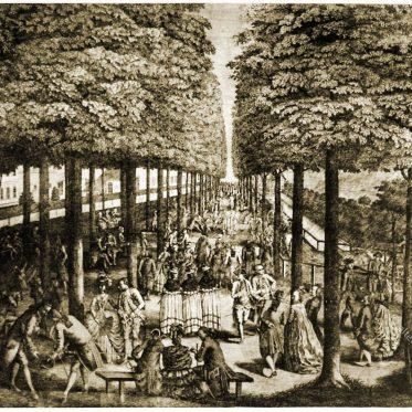 Französische Tracht in Deutschland 1777