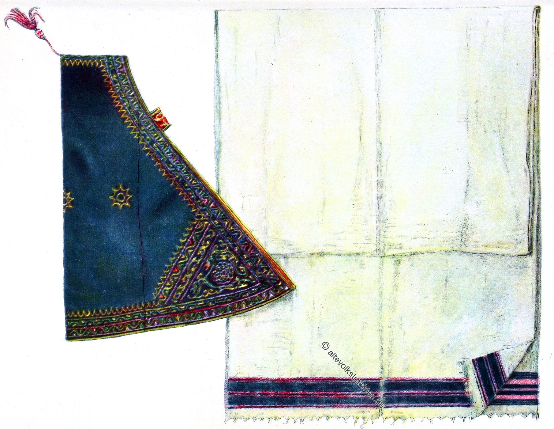 Abyssinia, Shama, hood-cloak, africa, costume