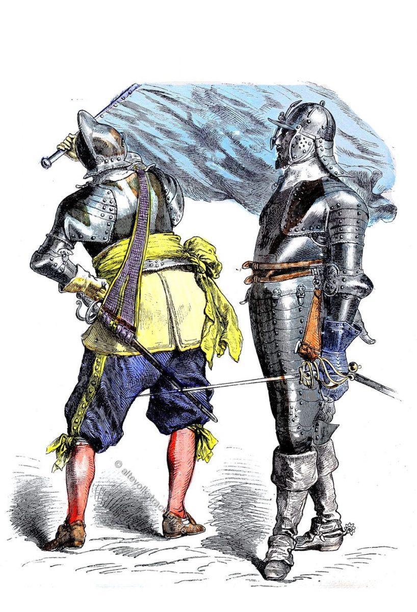 Soldaten Trachten im dreissigjährigen Krieg.