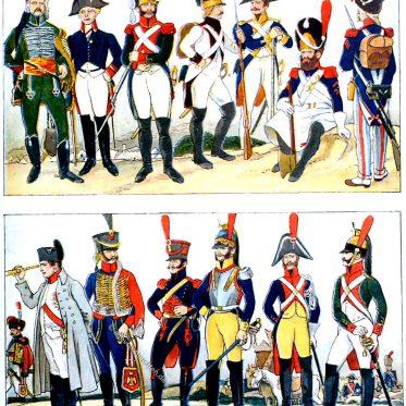 Franz. Uniformen der napoleonischen Zeit 1795-1815.
