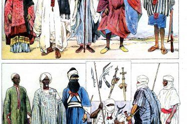 Sahara, Sudan, Senegal, Bornu, Tuareg, Fulbe, Afrikanische Volkstrachten,