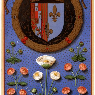 Wappen von Margarete von Navarra 1492-1549.