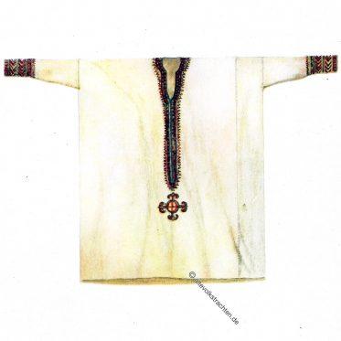 Besticktes Frauenhemd aus Äthiopien.