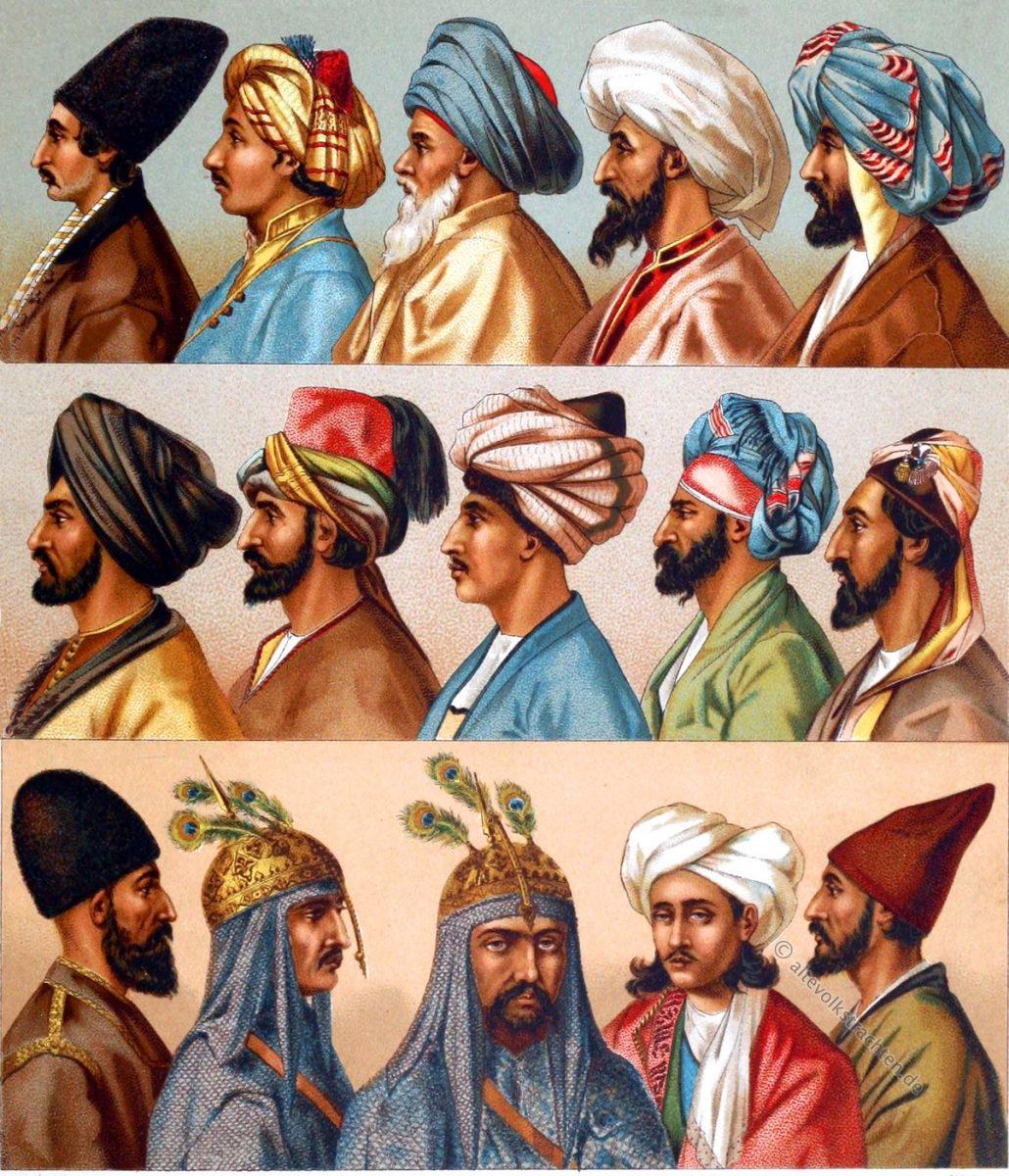 Turban, Fez, Lammfellmütze, Püskül, Kinkab, Tarbusch