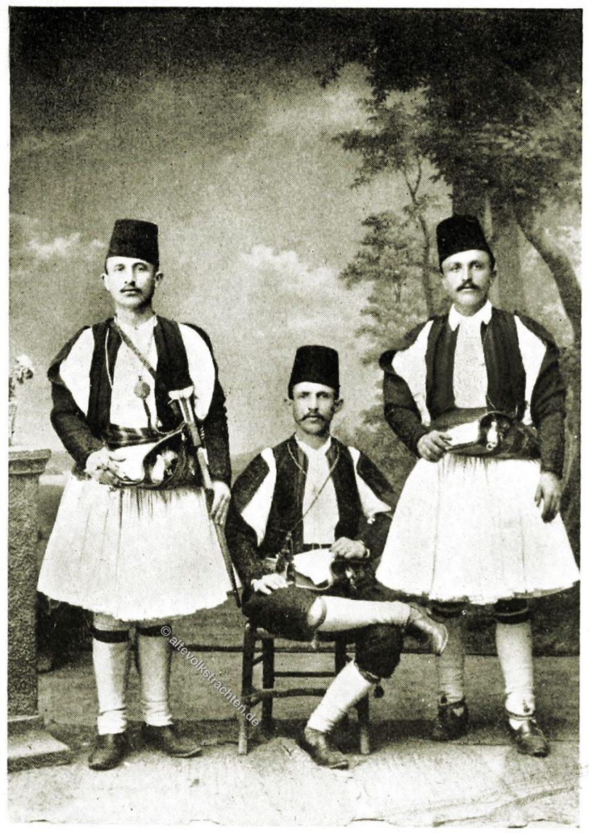 Kavassen, Albanien, Trachten, Volkstrachten, Balkan, Lucy Mary Jane Garnett,