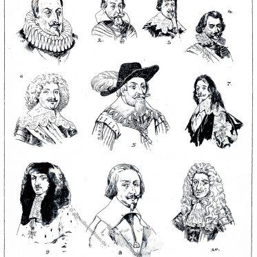 Haar,- und Bartmoden des Barock im 17. Jahrhundert