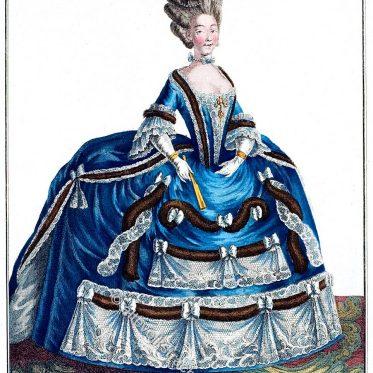 Franz. Hofkleidung. Mittelgroßer Reifrock 1778.