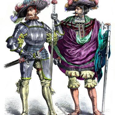 Deutsche Landsknechte. Hauptmann und Leutnant, 1525.