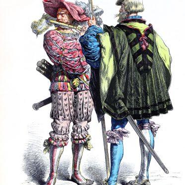 Deutsche Landsknechte. Pfeiffer und Weibel 1525.