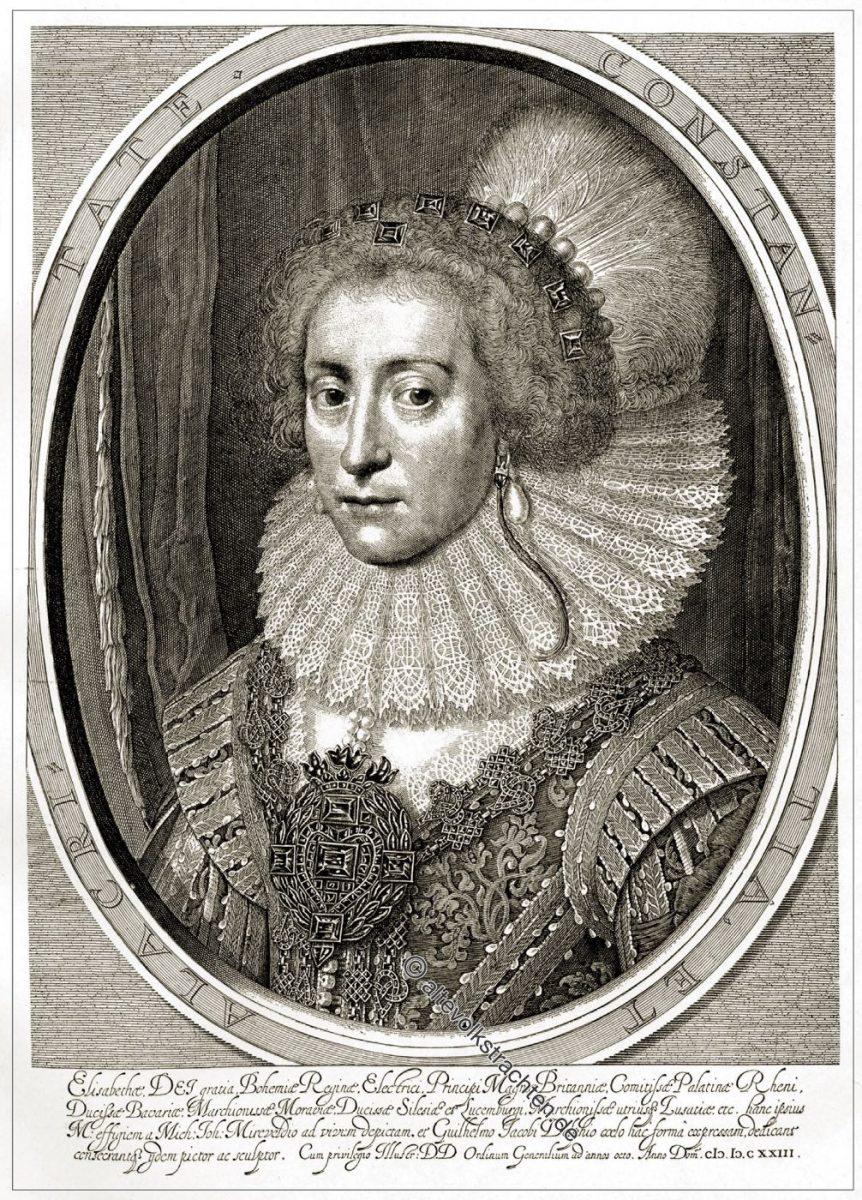 Wilhelm Jacobsz Delff, Barock, Kostüm, Elisabeth, Stuart, Königin, Böhmen, Winterkönigin