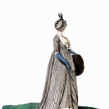 Trauerkleider des englischen Regency. April 1801.