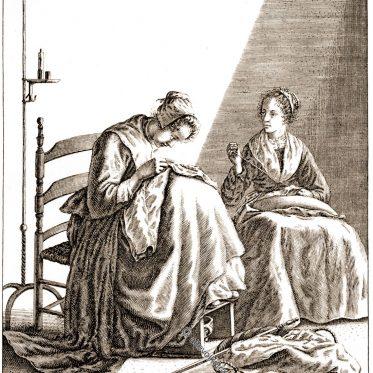 Weibliche Tätigkeiten, 17. Jh. Geertruydt Roghman.