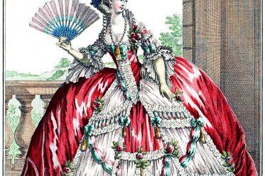 Reifrock, Krinoline, Marie Antoinette, Grande Robe à la Française, Rokoko, Mode, Kostüm