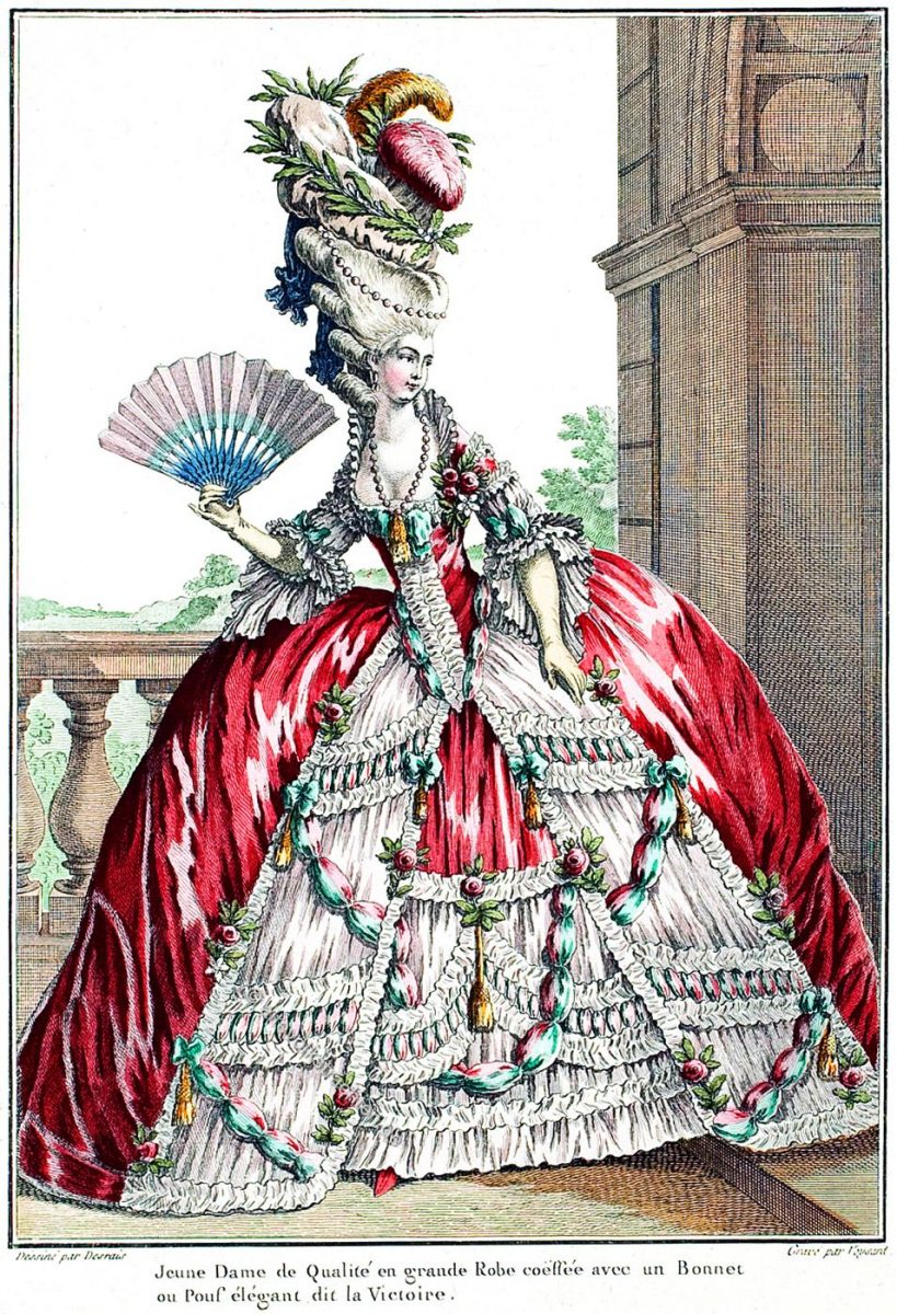 Reifrock, Grande Robe à la Française, Rokoko, Mode, Kostüm, Staatsrobe