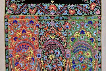Bobinet, Kaschmirschal, Paisleymuster, Bobinet-Schal, Textilkunst,