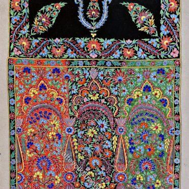 Textilkunst. Bestickter Bobinet-Schal.