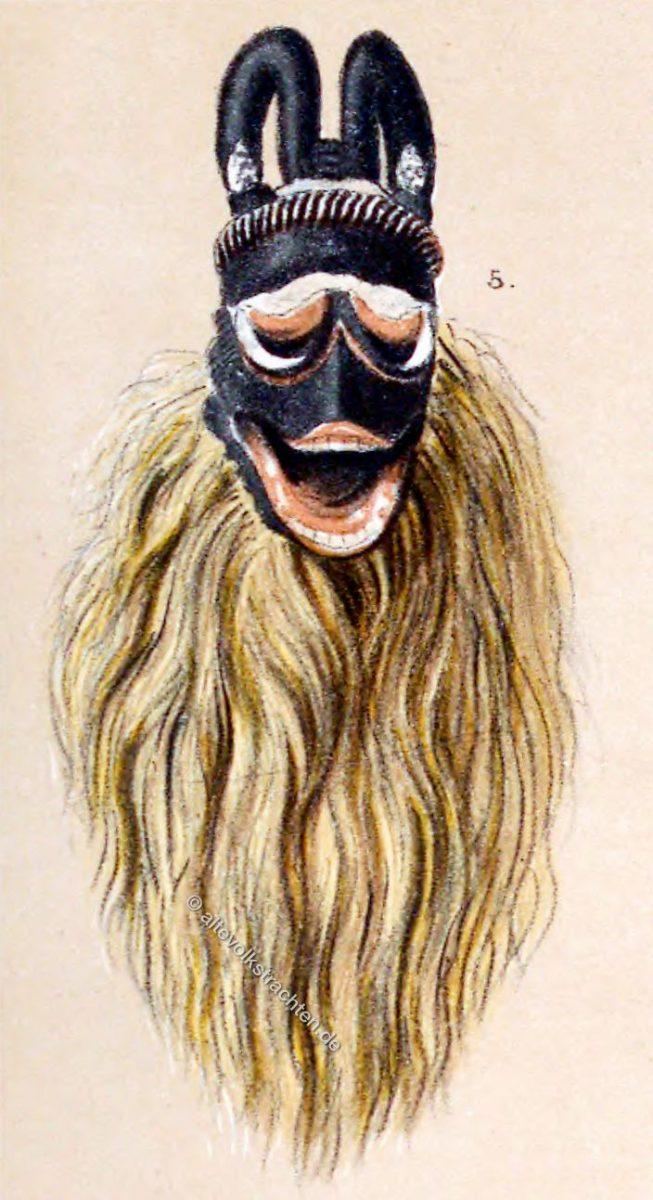 Hörnermaske, Maske, Kongo, Loango-Küste, Afrika,