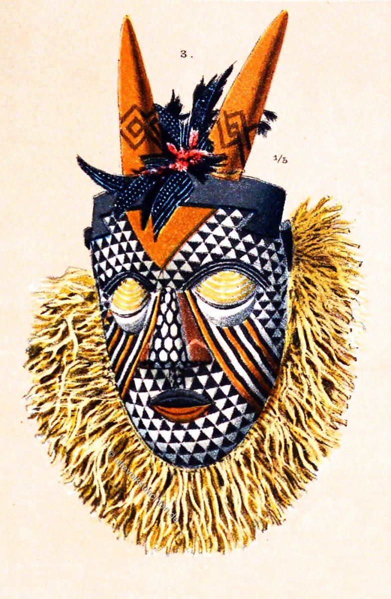Hörnermaske, Maske, Kongo, Afrika, Magier,