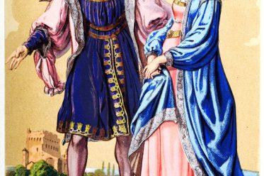 Lord, Edeldame, Kostüme, Renaissance, Modegeschichte, Wandteppich, St. Paterne, Orléans