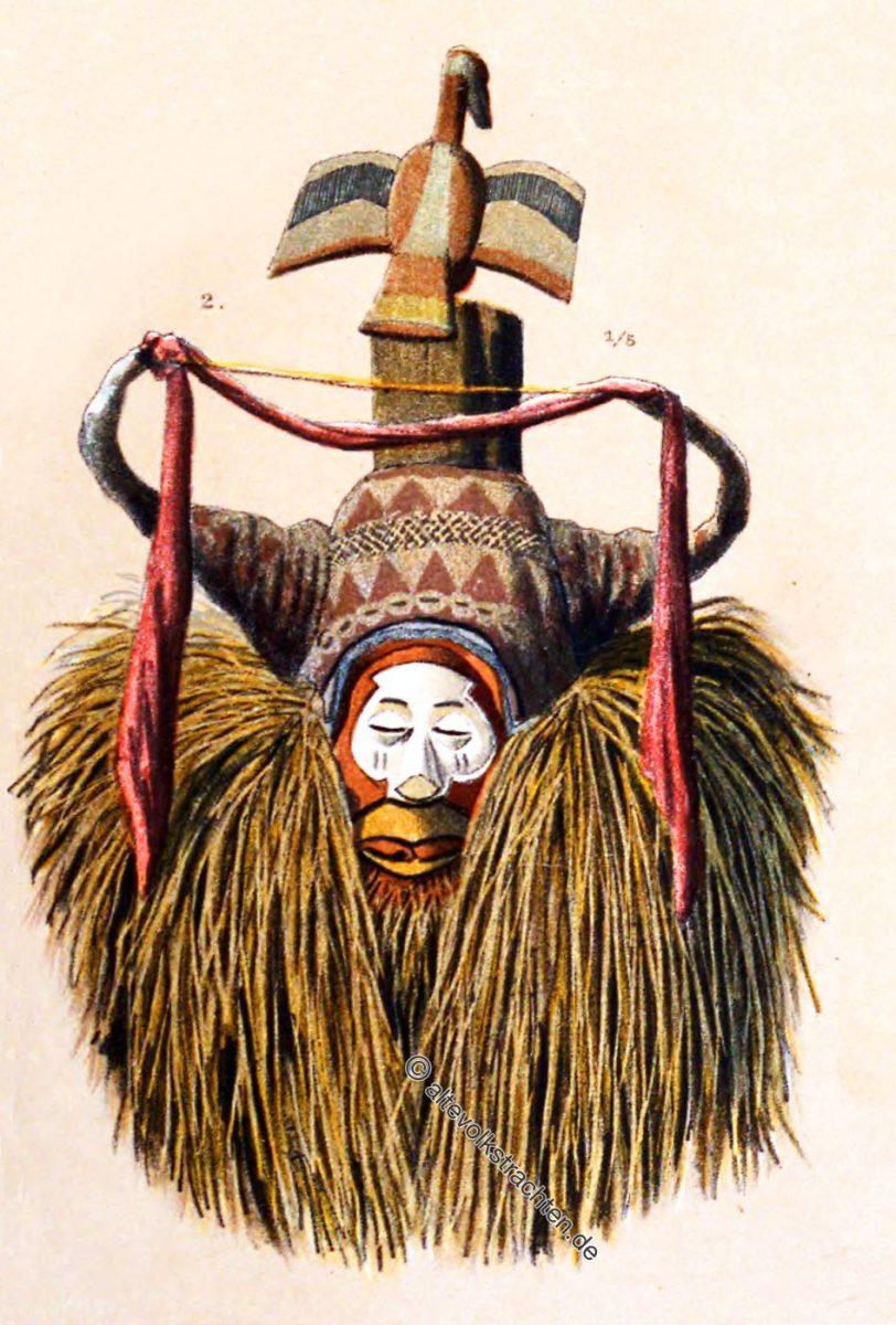 Maske, Beschneidung, Afrika, Kuango, Kongo-Staat, Beschneidungsfest