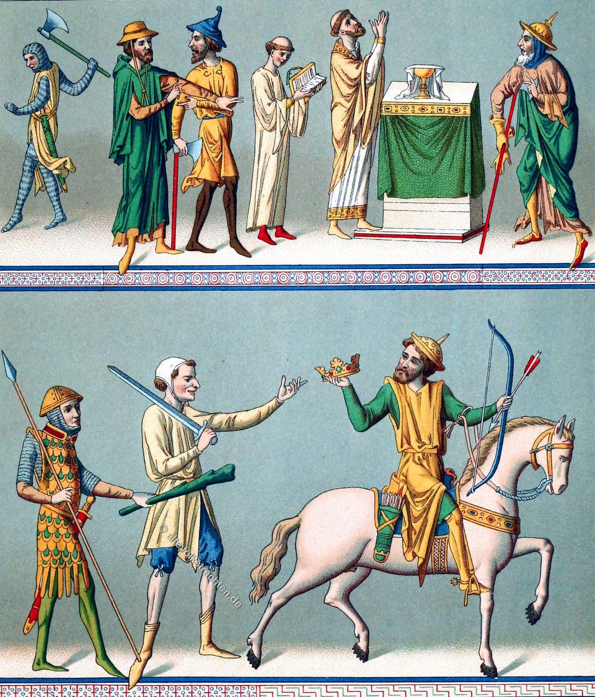 Mittelalter, Kleidung, Kostüme, Gotik, Kostümgeschichte