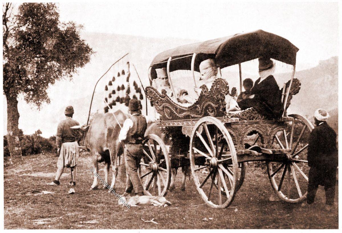 Osmanische Damen, Trachten, Schleier, Volkstrachten, Türkei, Balkan, Lucy Mary Jane Garnett,
