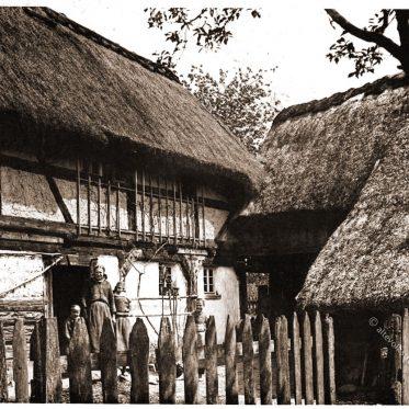 Wendisches Gehöft in Ralbitz um 1890.
