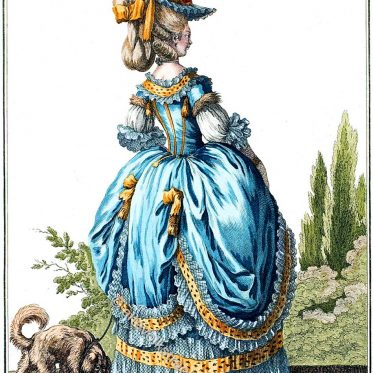 Robe à la Circassienne. Frankreich Rokoko Kostüm.