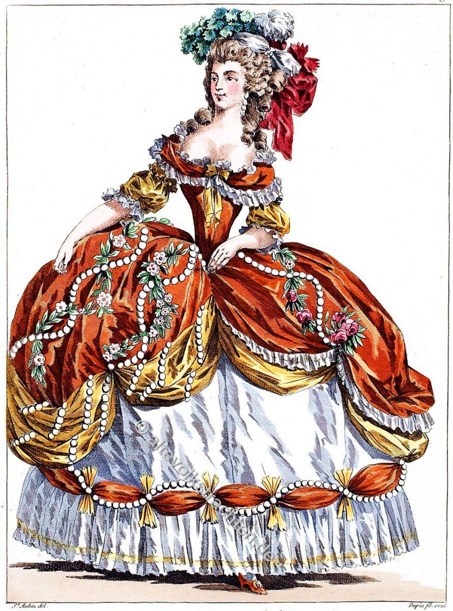 Reifrock, Krinoline, Rococo, Kostüm, Kleid, Comtesse de Sabran