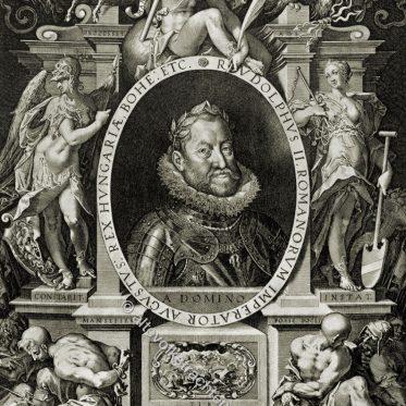 Rudolf II., Kaiser des Heiligen Römischen Reichs 1576-1612.