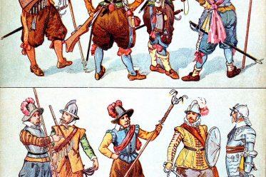 Kriegstrachten, Musketiere, Pikeniere, Dragoner, Artillerist, Soldat, Kürassier, Soldatenwesen, Dreißigjähriger Krieg,
