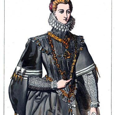 Italienische Prinzessin in spanischer Hofmode. Spätes 16. Jh.