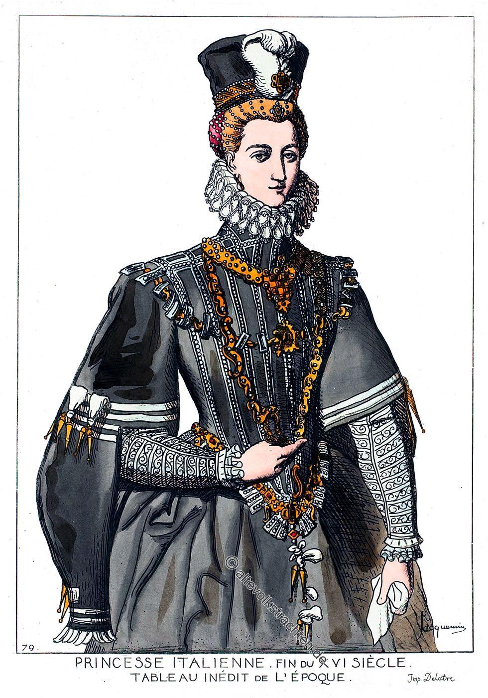 Spanische Hofmode, Italien, Renaissance, Kostüm, Modegeschichte