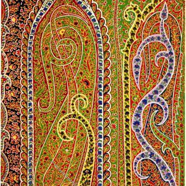 Textilkunst. Indischer Schal um 1800.