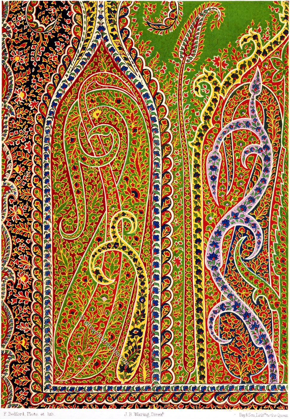 Textilkunst, Design, Schal, Indien, Textil, Stoffmuster,