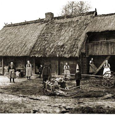 Wendisches Bauerngut in Trebendorf bei Schleife um 1890.