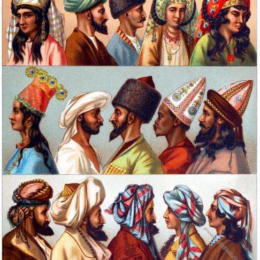 Der Turban. Asiatische Kopfbedeckungen.