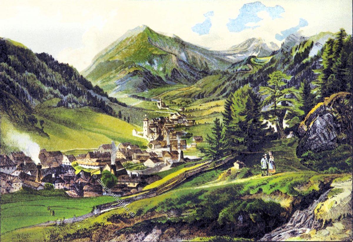 Vordernberg, Brucker Kreis, Steiermark, Österreich, Landschaft, Gemälde