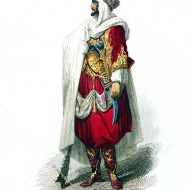 Ein arabischer Stammesführer aus Algerien um 1800.