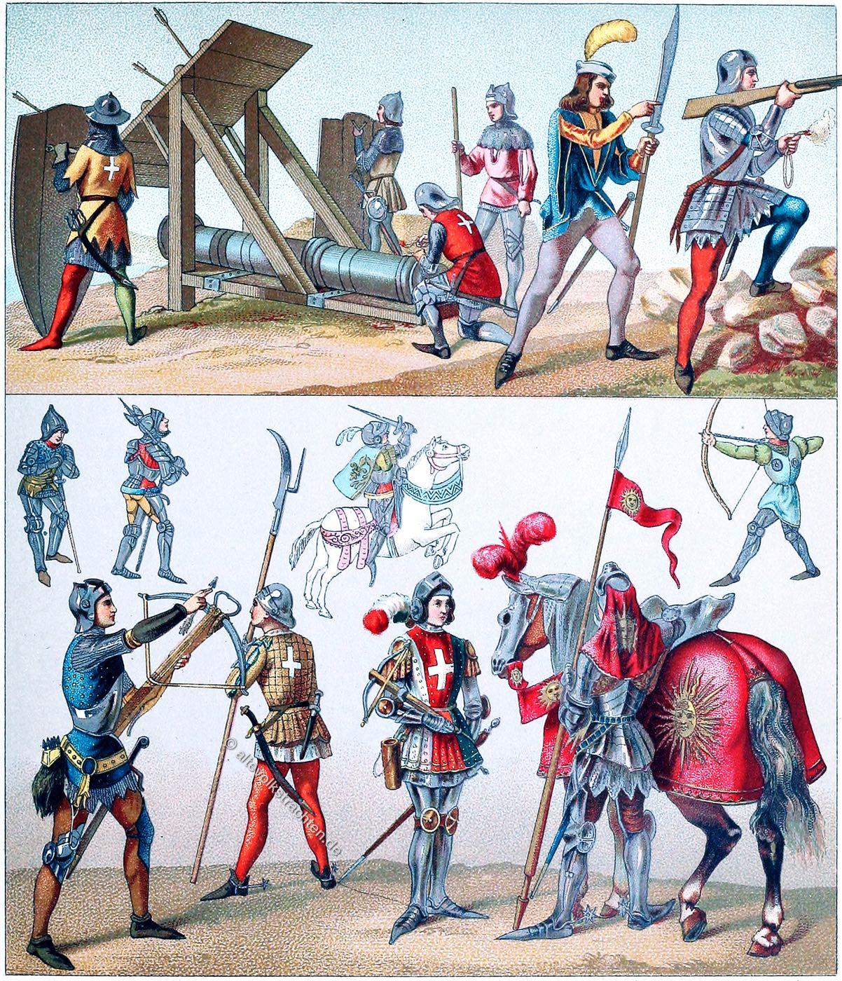 Artillerie, Mittelalter, Frankreich, Soldaten, Garde du Corps
