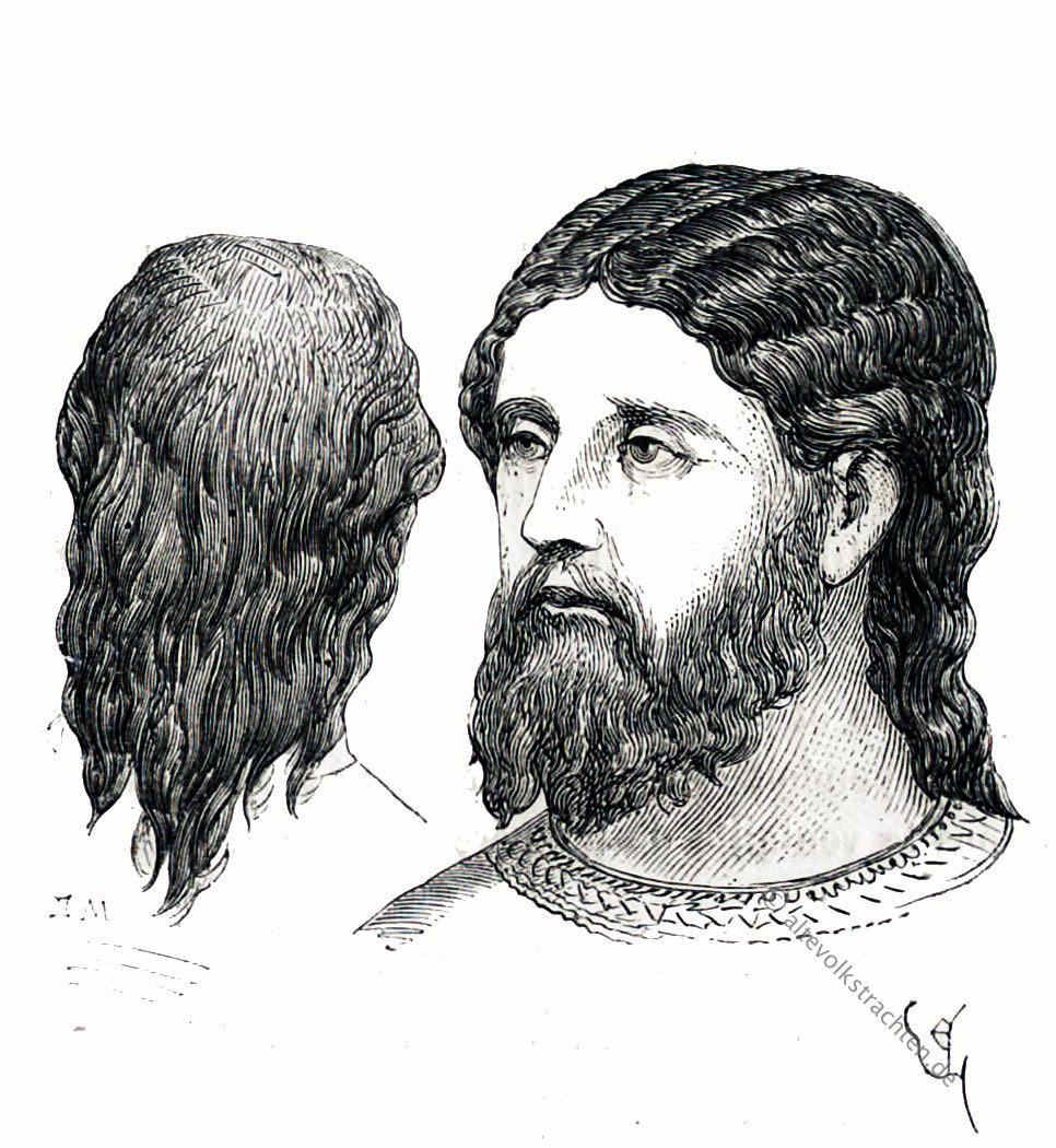 Bartmode, Haarmode, Frisur, Mittelalter