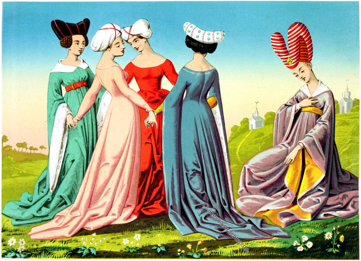 Die berühmten Frauen von Giovanni Boccaccio. Italien 15. Jahrhundert.