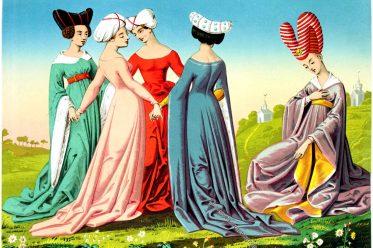 Boccaccio, Mulieribus Claris, Italien, Mittelalter, Kostüme,