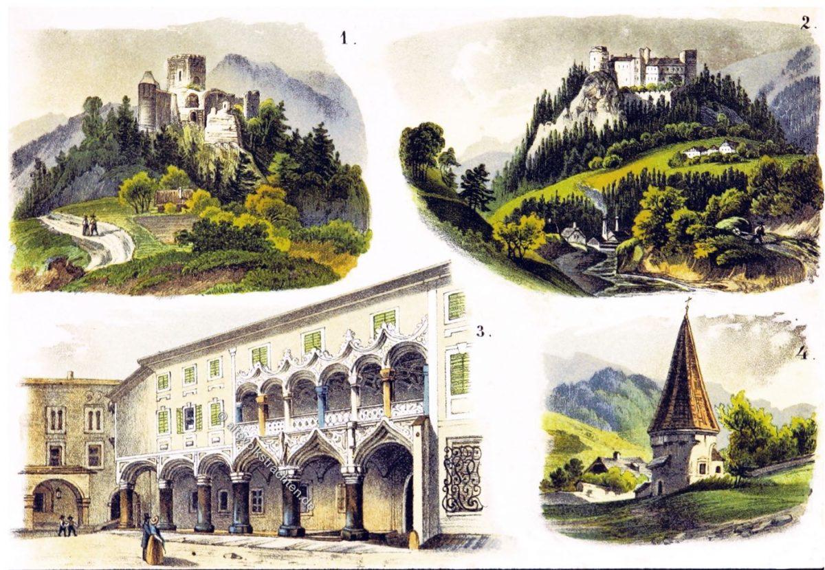 Brucker Kreis, Gallenstein, Kapfenberg, Mürztal, St. Erhard, Kapelle, Herzogliche Burg, Bruck