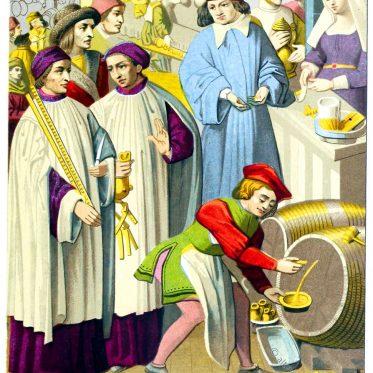 Ein Cabaretier in Belgien des 15. Jahrhunderts.